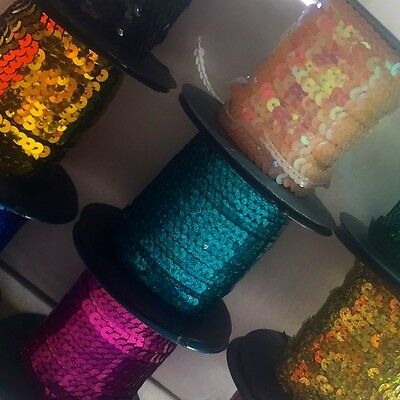 5 Metres Of Strung Sequins (6Mm) - Choose Your Colour. Amazing Variety ***