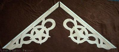 L&Gs Victorian STAR Gingerbread Fretwork Gable End Exterior Wood Trim