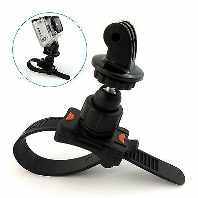 Motorcycle Bike Quick Release Strap Camera Mount for GoPro Hero 4 3+ 3 2 1