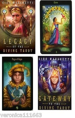 Legacy of the Divine Tarot Gilded Tarot NEW Sealed Set 78 Color Cards 312pg Book