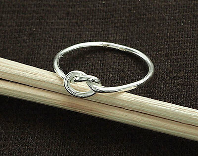 925 Sterling Silver  Love Knot Ring,  Delicate Ring ,Size 8 US