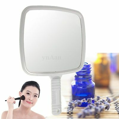 Square Professional Makeup Handheld Salon Barber Hairdressers Paddle Mirror Tool