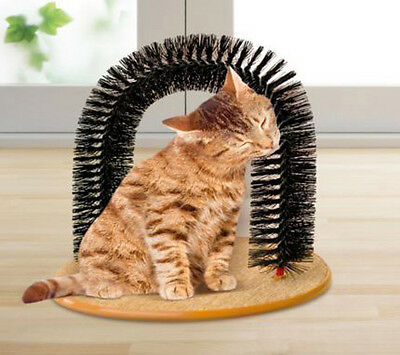 Cat Scratching Post Pole Activity Centre Play Sisal Scratcher  Arch Massager Toy • EUR 7,63