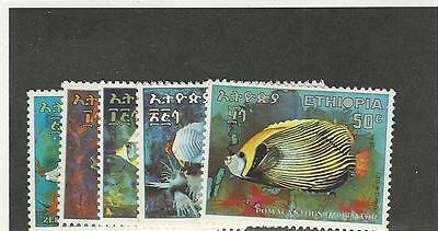 Ethiopia, Postage Stamp, #558-562 Mint NH, 1970 Fish