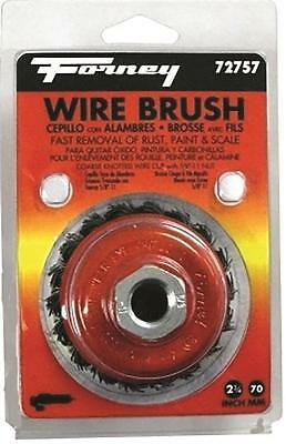 """New Forney 72757 2 3/4"""" X 5/8"""" X 11 Grinder Wire Wheel Cup Brush Knot 8912487"""