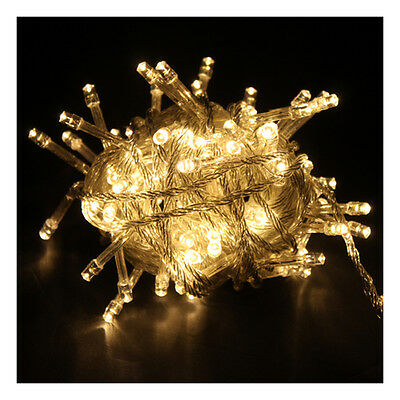 10M 100 LED Warm White String Fairy Light Christmas Party Xmas Connectable New