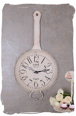 Wall Clock Shabby Chic Kitchen Clock Pan Watch In Country House Style