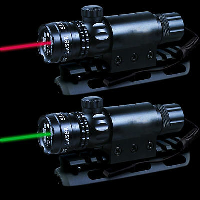 Green/RED Dot Laser Sight Remote Switch Picatinny Weaver Rail Rifle Mount Scope