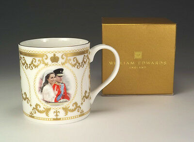 William Edwards Porcelain Duke & Duchess Of Cambridge Commemorative Mug - Boxed!