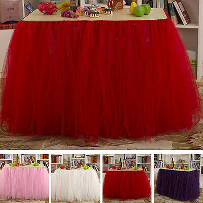 New Birthday Wedding Tablecloth Decor Tulle Tutu Table Skirts Party Baby Shower
