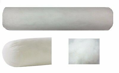 Bolster Single Double Queen King Sizes White Hypoallergenic Fibre Post Included