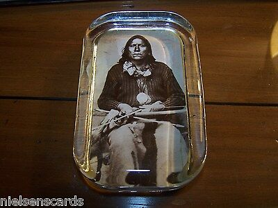 """Charles Carpenter Sepia Toned Reprint Chief White Bear Paperweight 2.5"""" x 4"""""""