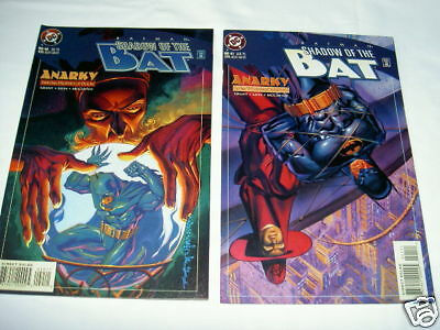 """BATMAN : """"ANARKY"""". COMPLETE 2 part STORY in SHADOW of the BAT 40 & 41. DC.1995"""