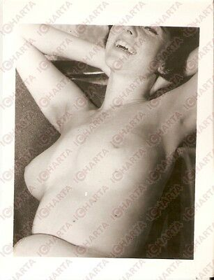 1950 ca USA - EROTICA VINTAGE Busty smiling girl portrait *PHOTO