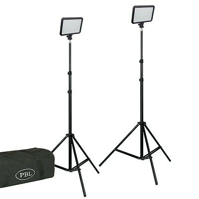 Triopo LED 408 Lighting Kit Dimmable Bi-Color Batteries, Charger, Camera Light
