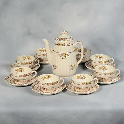 "Spode ""buttercup"" Coffee  Set - Old Brown Mark"