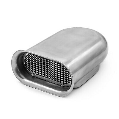 Polished Aluminum Single Carburetor Hilborn Style Hood Scoop