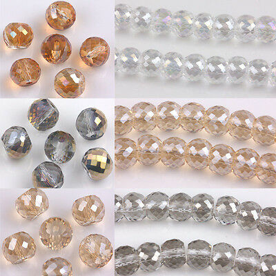 New 30Pcs Crystal Loose Spacer Charms Beads Crafts Findings DIY 8x6MM