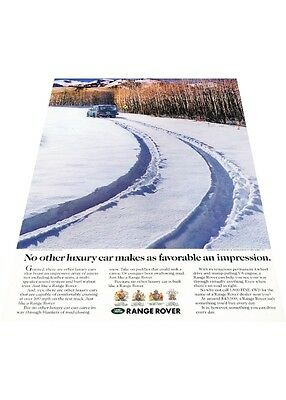 1991 Range Rover - snow path - Vintage Advertisement Car Print Ad J402