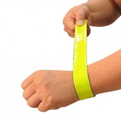 New High Visibility Reflective Snap Band Cycling Walking Saftey Arm Leg Strap