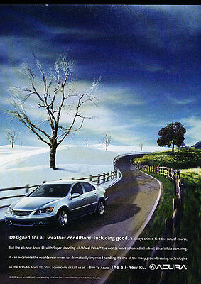 2005 Acura RL - weather -  Classic Advertisement Ad A50-B