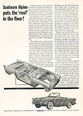 1962 Sunbeam Alpine roof Vintage Advertisement Ad