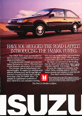 1988 Isuzu I-Mark Turbo Vintage Advertisement Ad