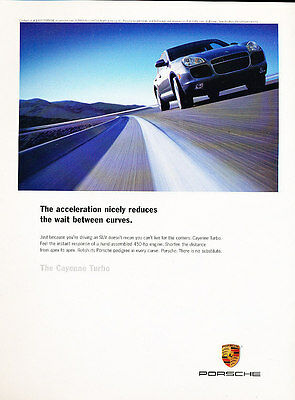 2003 Porsche Cayenne Turbo - accelerate -  Classic Advertisement Ad A53-B