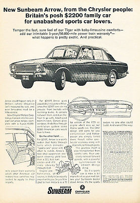 1967 Chrysler Sunbeam Arrow Vintage Advertisement Ad