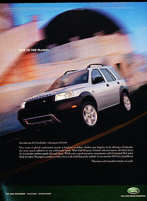 2002 Land Rover Freelander - planet -  Classic Advertisement Ad A53-B