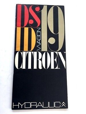 1968 Citroen DS19 ID19 Station Wagon Sales Brochure