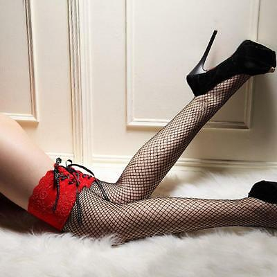 Women Sexy Lace Top Thigh High Stockings Nets Highs Hosiery Clubwear Stockings