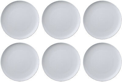 QUEENS JAMIE OLIVER WHITE 6 x DINNER PLATES (PUKKA) 27cm - BRAND NEW/UNUSED