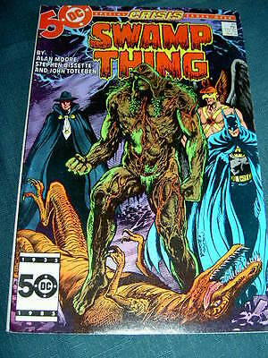SWAMP THING 46. CRISIS XOVER by ALAN MOORE, BISSETTE & TOTLEBEN. DC COMICS.1986