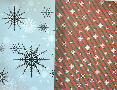 2 x A4 Sheets Snowflake Vellum 112gsm Choice of 2 Designs NEW