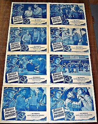Two-Fisted Ranger * Charles Starrett Western * Original 8 Card Lobby Set