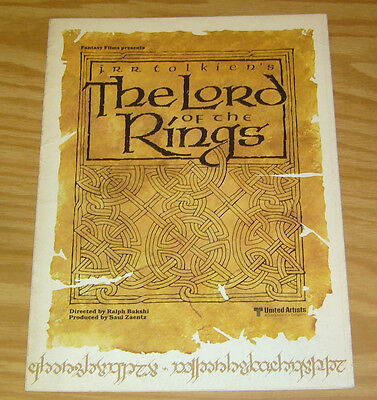 Fantasy Films Presents J.R.R. Tolkien's the Lord of the Rings fold-out poster