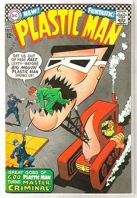 PLASTIC MAN #4 Great Gobs of Goo PM Turns Criminal! DC Comic Book ~ FN