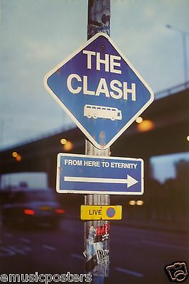 "THE CLASH ""FROM HERE TO ETERNITY"" U.S. PROMO POSTER FROM 1999 - U.K. Punk Music"
