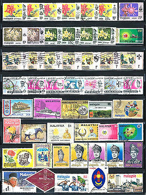 MALAYSIA Stamps Assorted Lot of 51