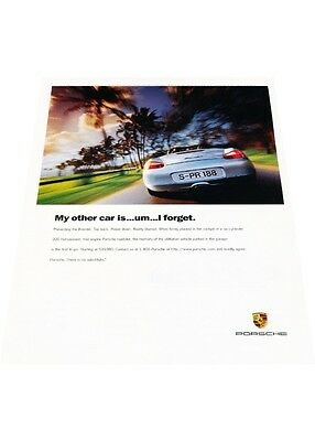 1997 Porsche Boxster - Vintage Advertisement Car Print Ad J406