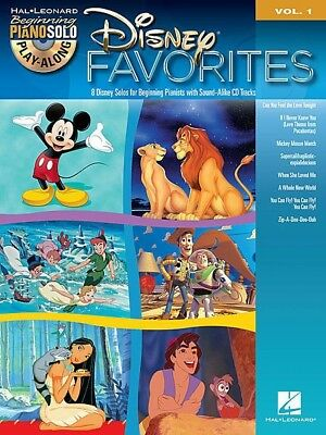 DISNEY FAVORITES - Beginner Piano Play Along Book & CD *NEW* Sheet Music Songs