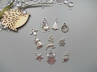 Mixed pack of Christmas Tibetan Silver Charms,Xmas,Jewellery making 20, 40 or 50