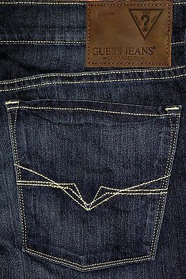 NEW Guess Rebel Lincoln Slim Fit Straight Leg Men's Blue Gray Jeans Sz 34,36,38