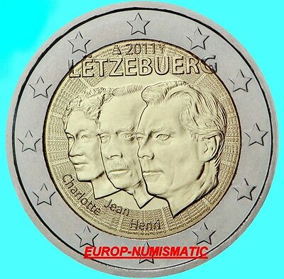 "LUXEMBOURG 2011  2 EURO Commemorative "" LE GRAND-DUC JEAN ""  SUPERBE  !!!!"