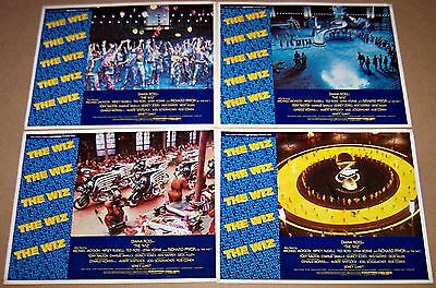 The Wiz (1978) Michael Jackson * Diana Ross * Complete 4 Card Lobby Set