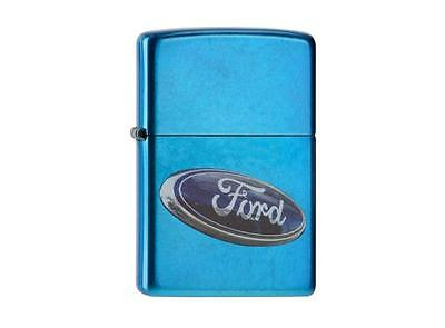 """ZIPPO """"FORD LOGO"""" CERULEAN COLOR LIGHTER /60000219 ** NEW in BOX **"""