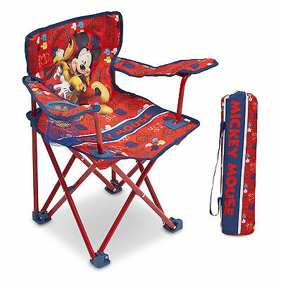 Delta Children Disney Mickey Mouse Folding Camping Chair Childs Fishing Chair