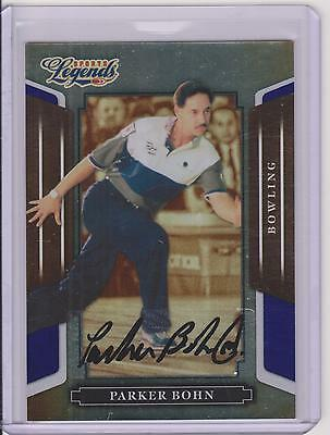 2008 Donruss Legends Parker Bohn Blue Autograph Card #37 ~ /250 ~ Bowling Legend