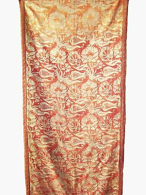 "1920's Fortuny Hanging Fragment in his ""Melagrana"" Pattern with Tulips"